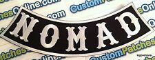 Nomad Bottom Rocker White and Black Outlaw Biker Patch for Jacket or Vest Iron
