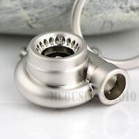 Sleeve Bearing Silver Black Spinning Turbo Keychain keyring Metal Key Chain Gift