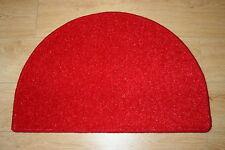 RED GLITTER HALF MOON RUG 77CM X 50CM GLITTER FRONT BACK DOOR MAT RED GLITTER