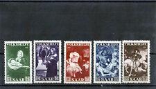 Saar Sc B84-8(Yt 296-300)*Vf Nh 1951 Semi Postal Set $150