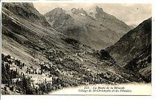 CP 38 ISERE - La Route de Bérarde - Village de St-Christophe et les Féttoules