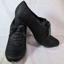 Ann Marino Black Herringbone Pattern w/Bow High Heel Shoe - Size 9.5 M