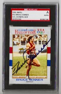 1991 Impel Olympics - BRUCE JENNER HAND SIGNED AUTOGRAPH - SGC Authenticated