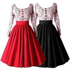 50er Jahre Pin Up Vintage Rockabilly Hepburn Kleid Tanzkleid Petticoat Gothic