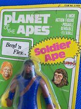 1974 Mego Planet of the Apes Soldier Ape Bend 'N Flex mint on sealed card !