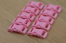 "10 X 3/8"" 10mm Plastic Contoured Curved Buckles paracord Bracelets - Light Pink"