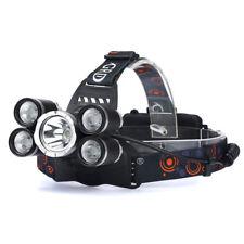 50000LM 5-Head XM-L T6 LED 18650 Headlamp Headlight Flashlight Torch Lamp HOT