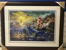 "Rare Thomas Kinkade ""The Little Mermaid"" Original Limited Ed. Lithograph-COA"