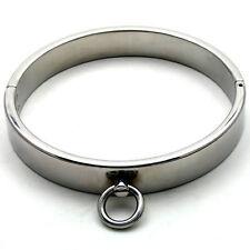 Fetish Bondage Steel Neck Slave Gimp Collar With Tethering Ring  smc-058a