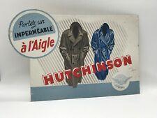 "Vintage '50 Carton Adv "" Waterproof Hutchinson "" D' After Sepo"