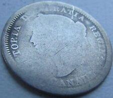 1858 Canada Silver 5 Cents - KM# 2