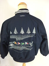 ViNtAgE MeNs J Class Nautica Reversible Sailing Racing Windbreaker CoAt JaCkEt M