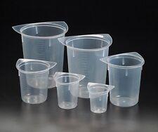 Tri-corner Plastic Beakers 50,100,250,400,800 & 1000ml Set of 6