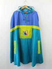 E21 Vtg JEANTEX Bike PVC 90s Men Poncho Jacket Cape Raincoat Waterproof Hood XL