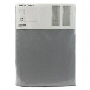 IKEA ANNALOUISA 2 Gardinen grau Vorhang Vorhänge 145x300cm Gardinenpaar
