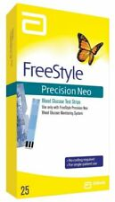 FreeStyle Precision Neo Blood Glucose Test Strips - 25ct. Exp:08/20-09/20 Sealed