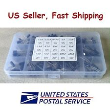 200 pcs Electrolytic Capacitor Assortment Kit with box 15 Values 0.1uF-220uF USA