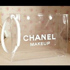 New Chanel Beaute Clear Transparent Makeup Pouch Cosmetic Bag Large