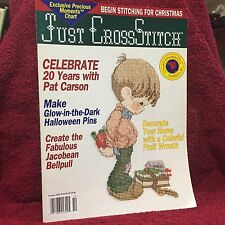 Just Cross Stitch Magazine Precious Moments Chart Christmas October 1993