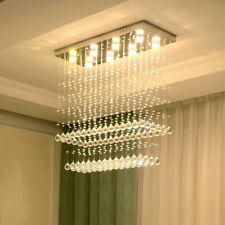 LED Crystal Chandelier Dining Room Ceiling Light Restaurant Rain Drop Lamps #239