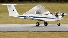 Colomban MC-15 Cri Cri Homebuilt Recreational Airplane Desk Dry Wood Model Large
