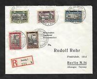 Danzig 1932, Michelnrn: 231 - 235 o, R-Brief, gestempelt o, Katalogwert € 300