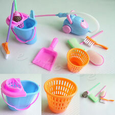 Set of 9Pcs Home Furniture Furnishing Cleaning Cleaner Kit For Barbie Doll House