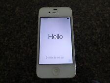Apple iPhone 4 A1349 8GB White iOS 7 Verizon Unlocked Smartphone Works