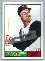 GINO CIMOLI PITTSBURGH PIRATES 1961 STYLE CUSTOM MADE BASEBALL CARD