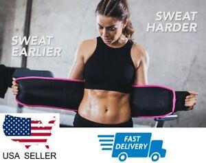 WAIST TRIMMER Women Men Fat Burner Belt Weight Loss Sweat Slim Wrap Body Shaper