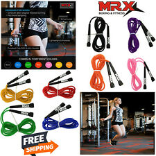 US! PVC Wire Speed Skipping Jump Rope Adjustable Crossfit Fitnesss Exercise 9FT