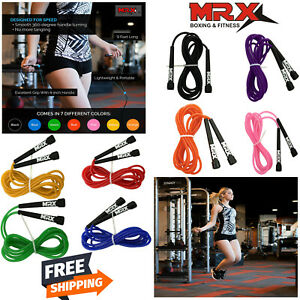 US! Jump Rope Speed Skipping Crossfit Adjustable PVC Wire Aerobic Exercise 9FT