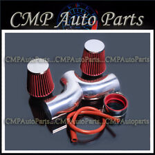 RED 2006 2007-2010 JEEP COMMANDER 5.7 5.7L TWIN DUAL AIR INTAKE KIT