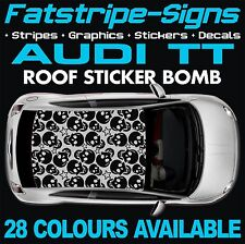 AUDI TT GRAPHICS ROOF STICKER BOMB ROOF CAR GRAPHICS DECALS STICKERS 1.6 SKULL