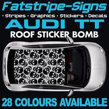 AUDI TT GRAPHICS ROOF STICKER BOMB ROOF CAR GRAPHICS DECALS STICKERS 1.6 SKULL