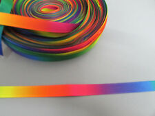 Rainbow Grosgrain Ribbon 1cm  x 1 Metre  Sewing/Costume/Crafts/Cake