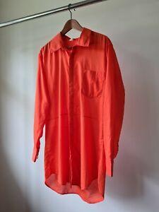 Kirrily johnston oversized Shirt dress orange size M L 12 14 cotton