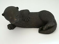 HEREDITIES, OTTER CUB LYING DOWN, c1990's, Original, Old, Absolutely Stunning.