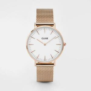 CLUSE Boho Chic Mesh Rose Gold/White CW0101201001 Watch