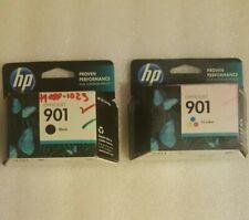 HP 901 Black Color and Tri Color Ink Cartridges CC653AN & CC656AN