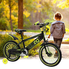 "Yellow 16""Kids Bike Bicycle 4 ~ 7 Years Old Kids Bike Bicycle & Training Wheels"