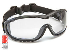 Force360 Oil & Gas Safety Glasses with strap Clear Lens Dust Seal