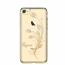 SWAROVSKI Element Foliflora Elegant Back Cover Case for iPhone 7/8-Gold Frame