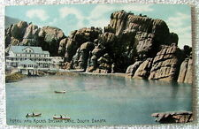 POSTCARD HOTEL AND ROCKS SYLVAN LAKE SOUTH DAKOTA #pq382