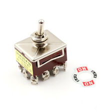 Toggle Switch 3 Position 12 Pin 4PDT ON-OFF-ON 10A/380VAC 15A/250VAC RS