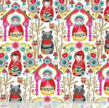 Riding Hood by Josephine Kimberling White Riding Hood story , quilting fabric