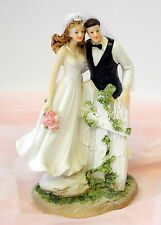 Dekofigur - Brautpaar am Zaun - Hochzeitspaar - Hochzeit Geschenk Tortendeko