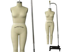 Professional Pro Female Working Dress Form Mannequin Full Size 8 +Arm