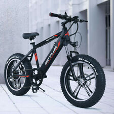 "20"" Electric Fat Tire Bike Snow Mountain Bicycle w Removable Lithium Battery 48V"