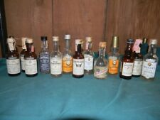 Lot 13 VTG Mini Whiskey Bottles Bourbon OLD GRAND DAD FITZGERALD JACK DANIELS